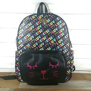 Betsey Johnson large cat backpack